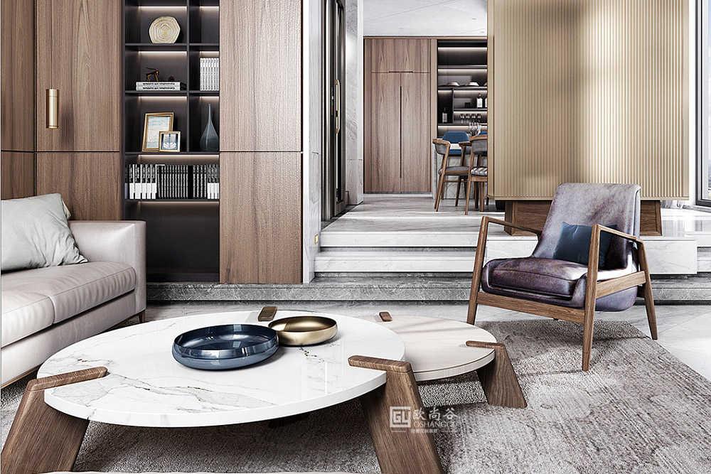 666㎡别墅原木轻奢定制,恰到好处的极简美学空间!