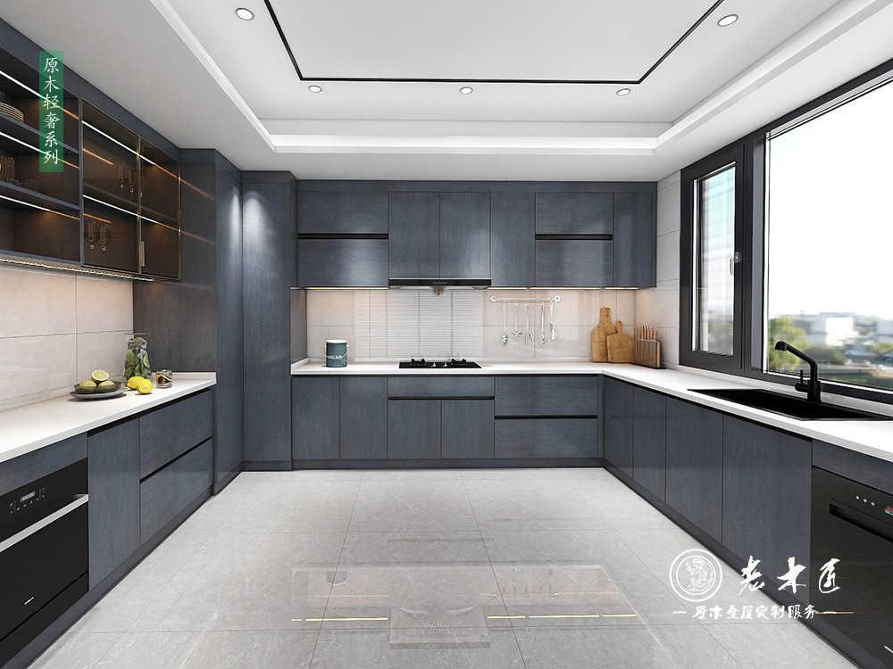 厨房设计效果图轻奢风_简约厨房设计效果图
