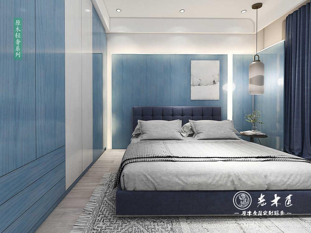 现代简约卧室效果图_现代简约卧室图片